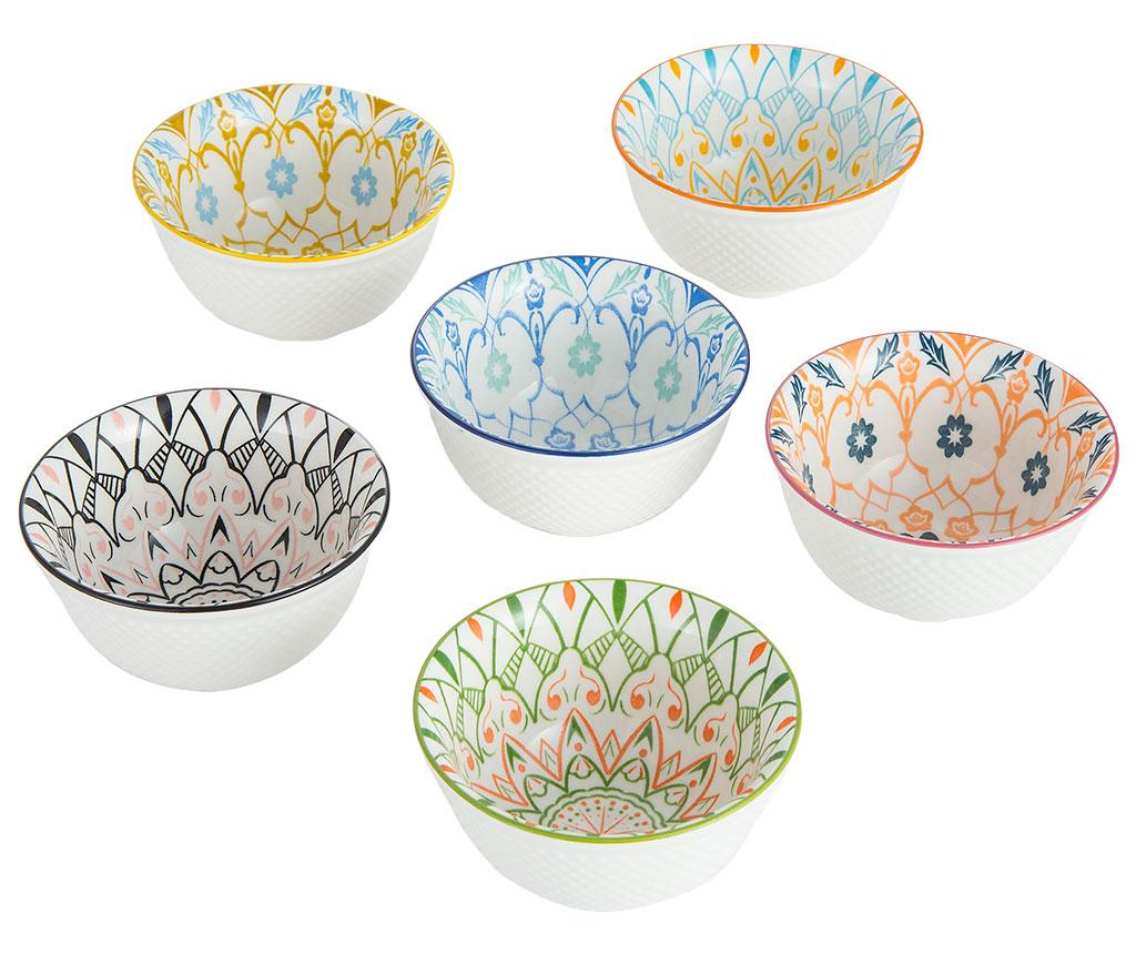 Set 6 boluri Maiolica Ciotolina S - Baroni Home, Multicolor imagine