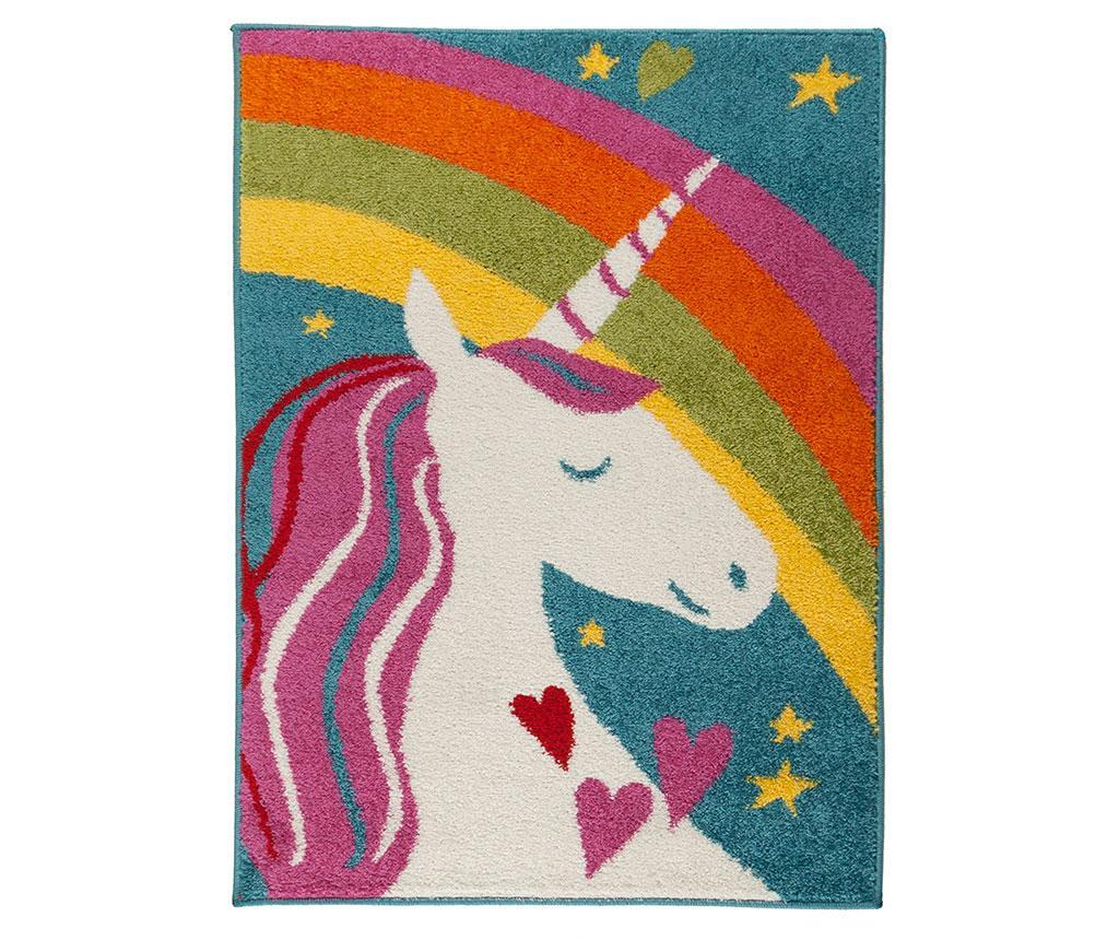 Covor Unicorn Rainbow 80x120 cm imagine