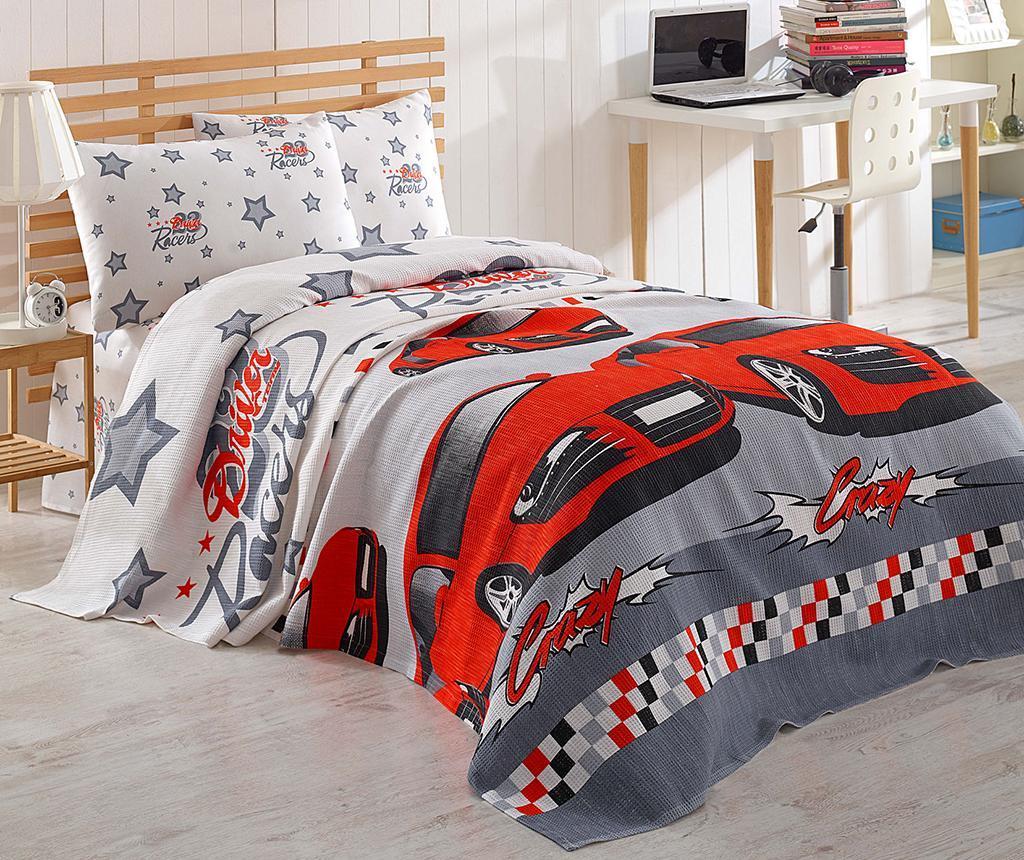 Cuvertura Pique Crazy Red 140x200 cm