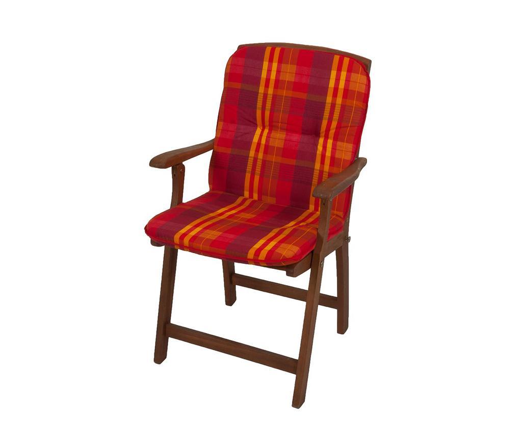 Perna pentru sezut si spatar Cardiff Red - Garden Pleasure, Multicolor imagine