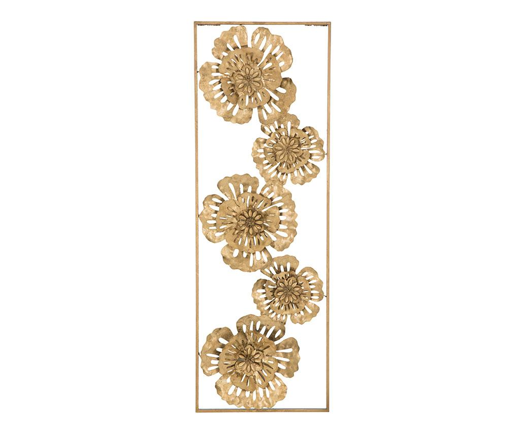 Decoratiune de perete Luxury Flowers Left - Mauro Ferretti, Galben & Auriu