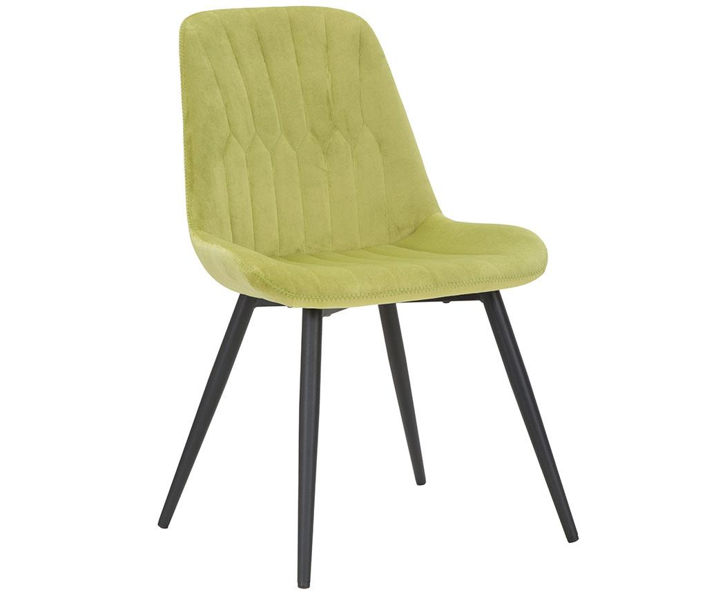 Scaun Glam Light Green Black Legs - Mauro Ferretti, Verde