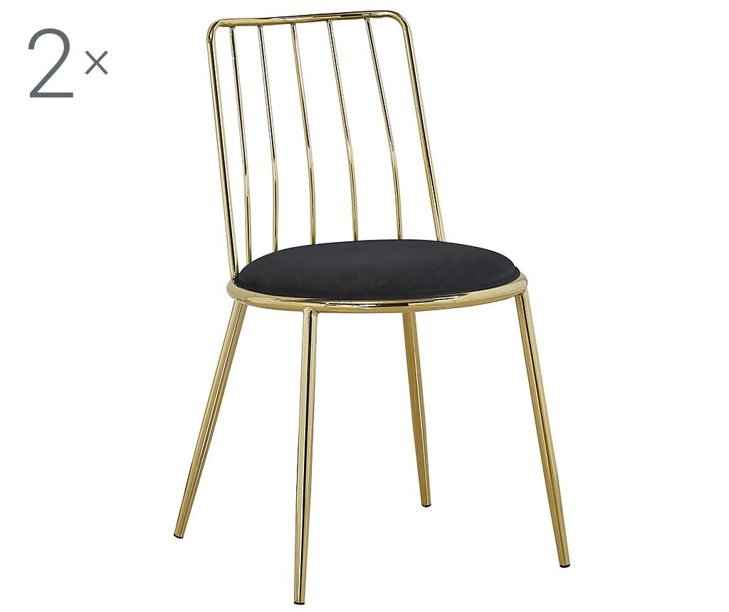 Set 2 scaune Ludovic Black - Mauro Ferretti, Negru