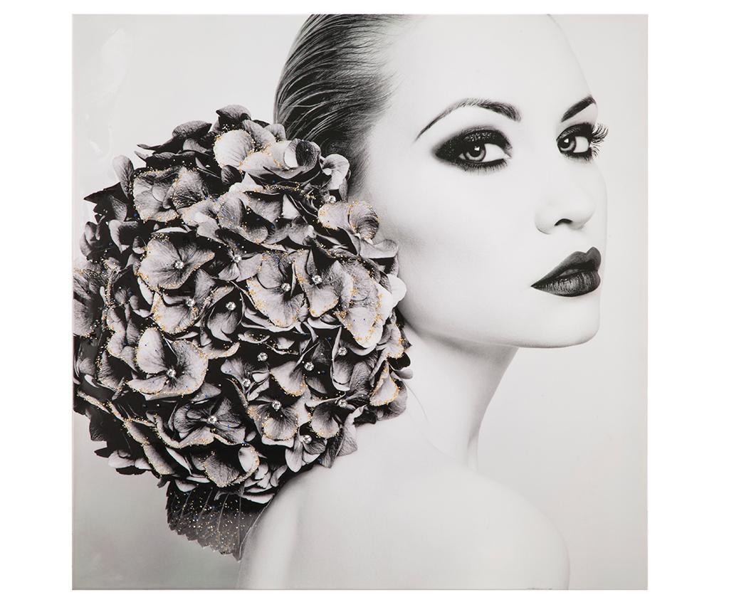 Tablou Flower Grey 100x100 cm vivre.ro