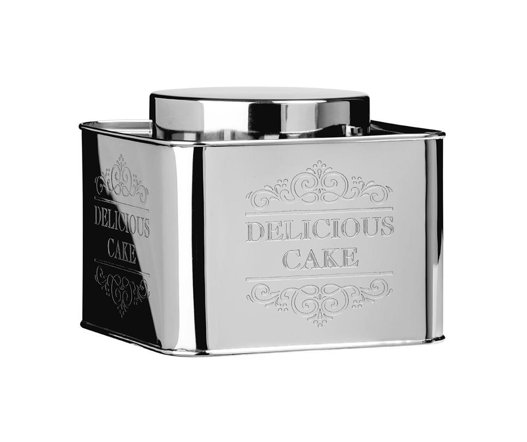 Recipient cu capac pentru biscuiti Chai Delicious - Premier, Gri & Argintiu imagine