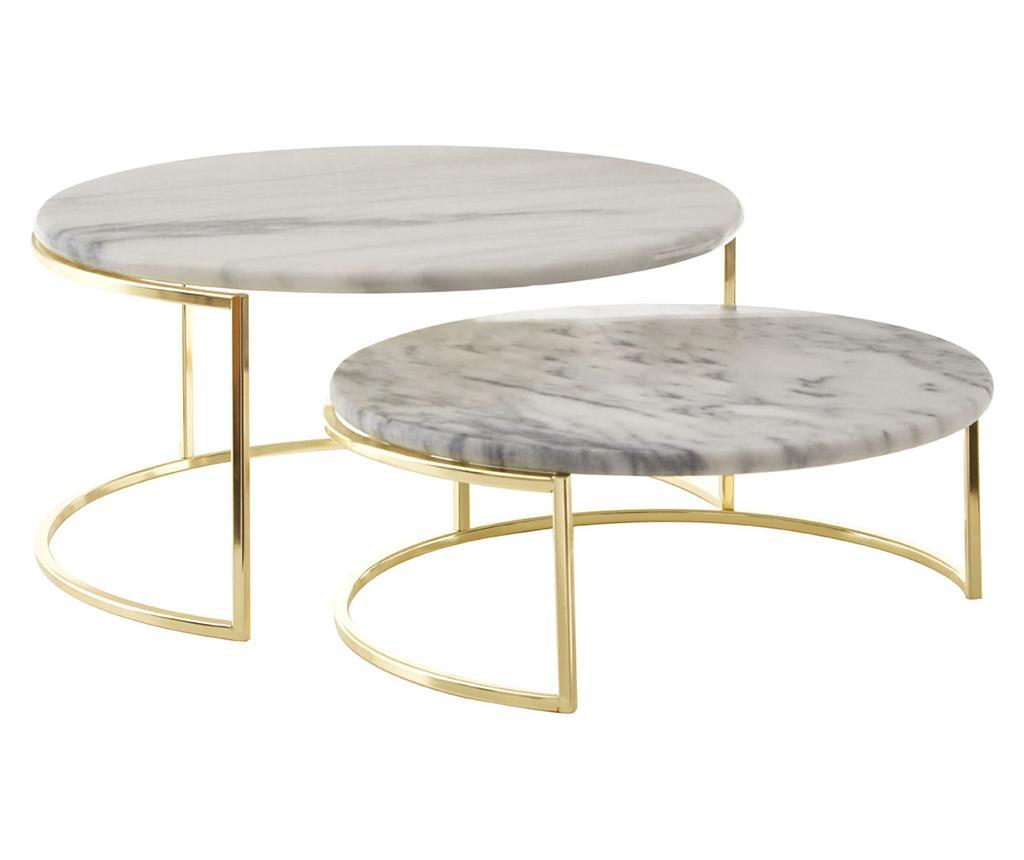 Set 2 suporturi pentru tort Marble imagine