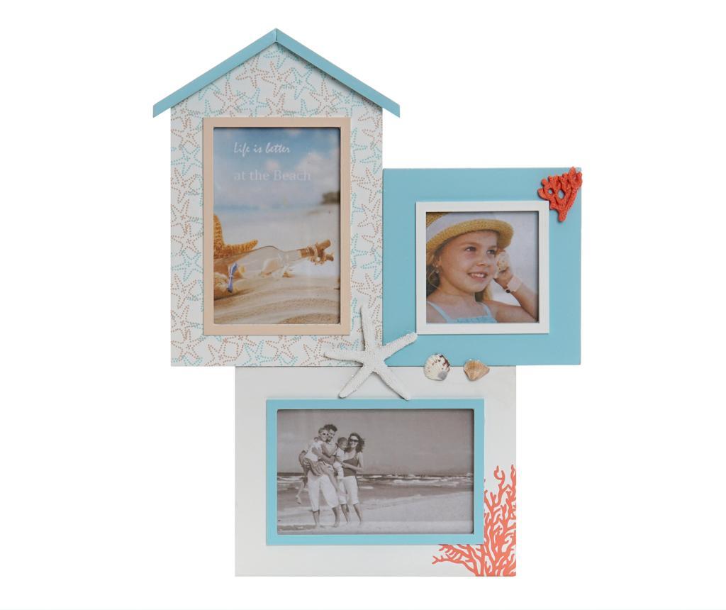Decoratiune cu 3 rame foto Leah - Item International, Multicolor vivre.ro