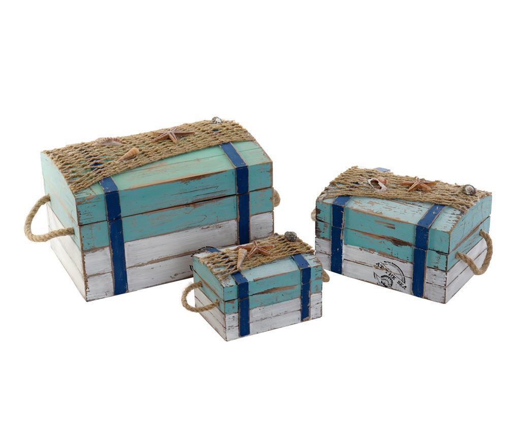 Set 3 cutii decorative cu capac Brian - Item International, Multicolor vivre.ro