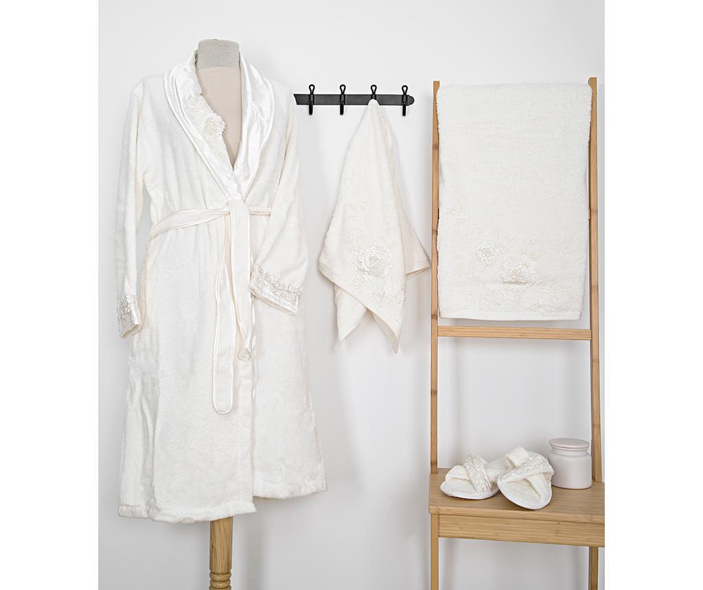 Set textile pentru baie 4 piese Mimosa Ecru - Irya, Alb imagine
