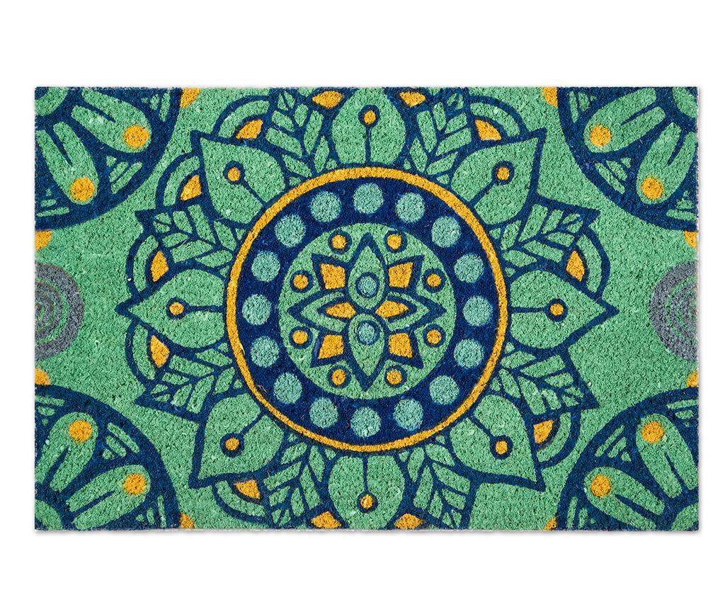 Covoras de intrare Mandala Mediterraneo 40x60 cm - Excelsa, Verde poza