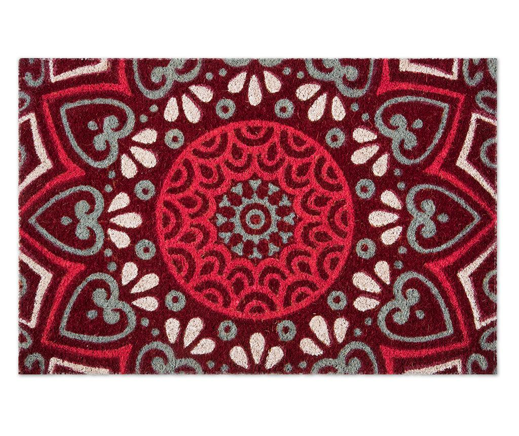 Covoras de intrare Mandala Red 40x60 cm imagine