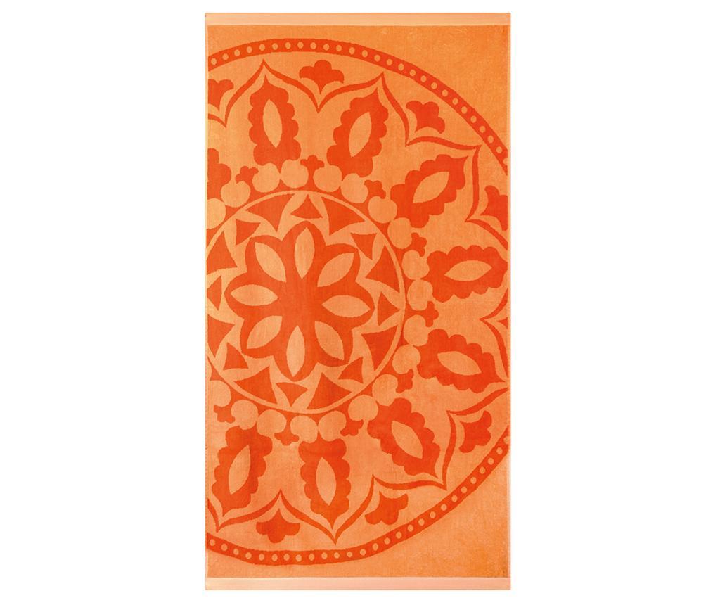 Prosop de plaja Medallion Orange 90x170 cm