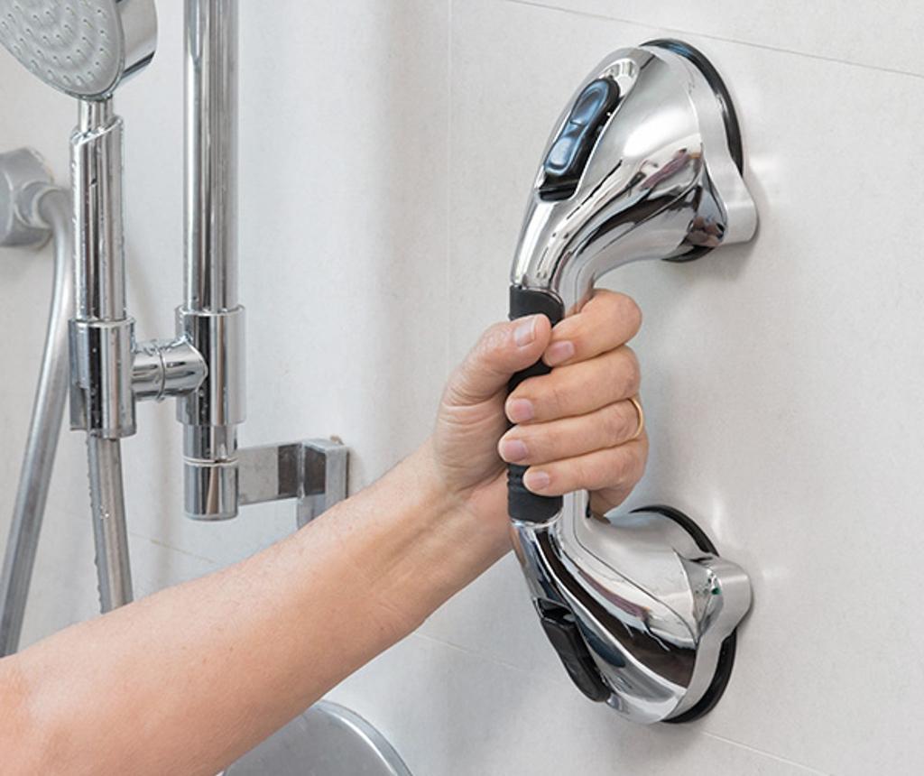 Maner de siguranta pentru baie Grab - InnovaGoods, Gri & Argintiu imagine