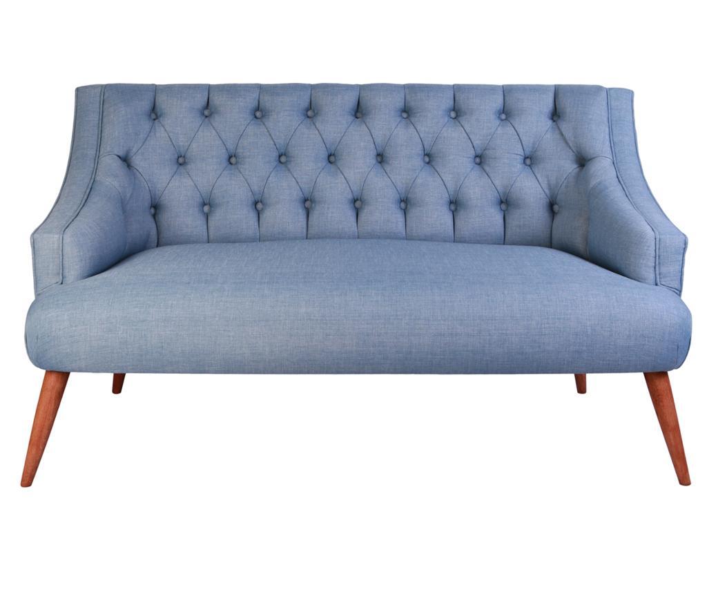 Canapea 2 locuri Penelope Indigo Blue - Z10 Desing, Albastru imagine