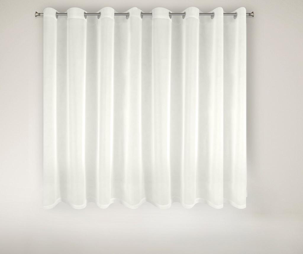 Perdea Lucy White Rings 160x300 cm imagine