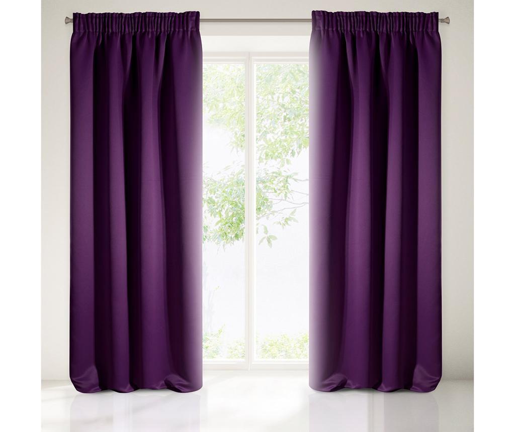 Draperie Logan Purple 135x270 cm - Eurofirany, Mov vivre.ro