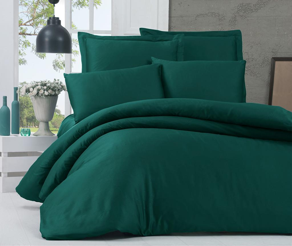Lenjerie de pat King Satin Supreme Basic Green imagine