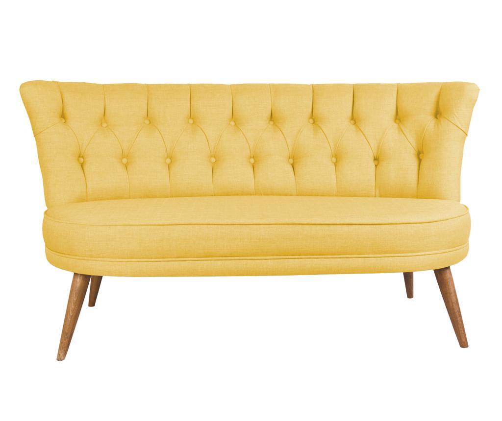 Canapea 2 locuri Sophia Yellow - Z10 Desing, Galben & Auriu imagine