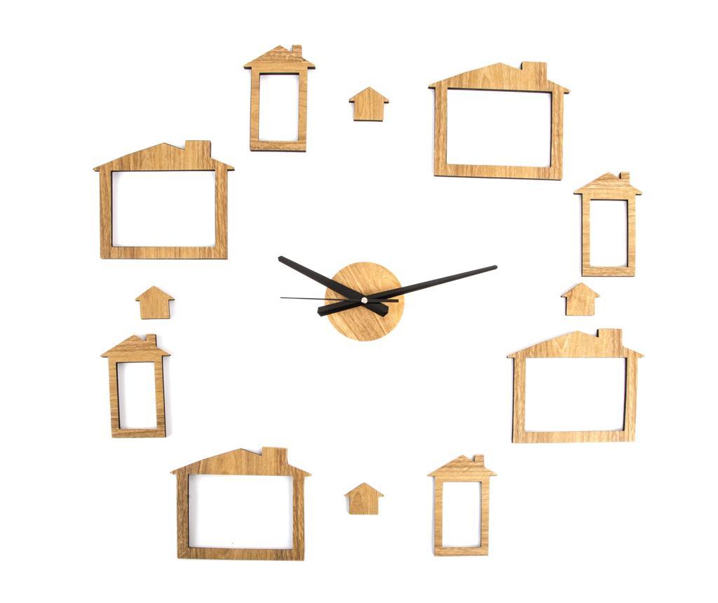 Ceas de perete cu 8 rame pentru fotografii Puzzle Home