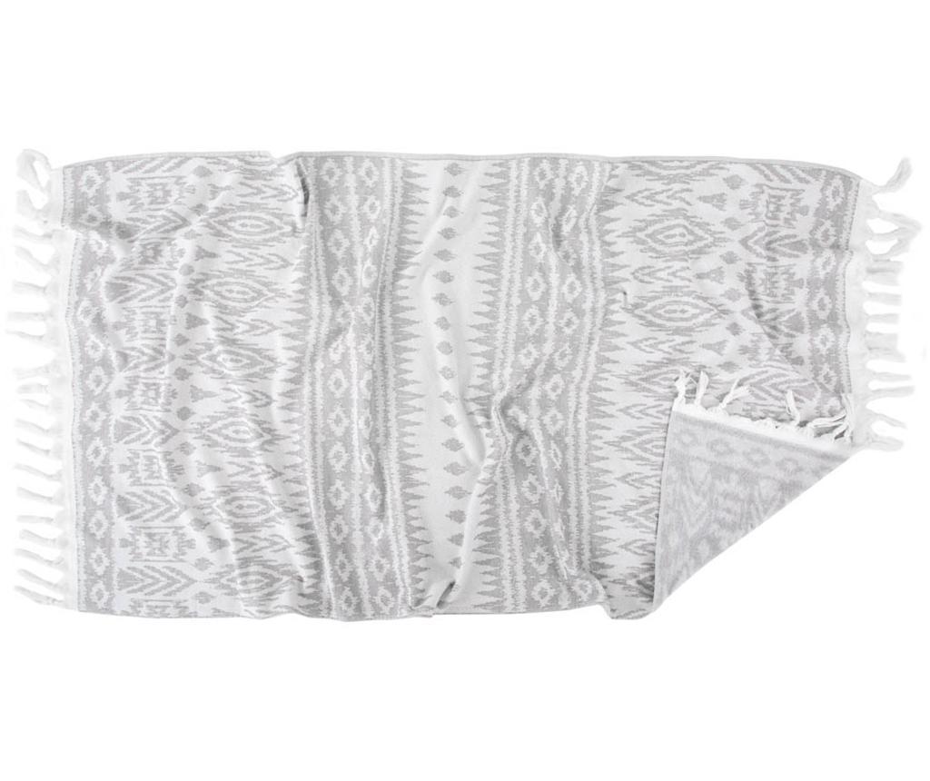 Prosop de baie Lena Grey 90x170 cm - Irya, Gri & Argintiu