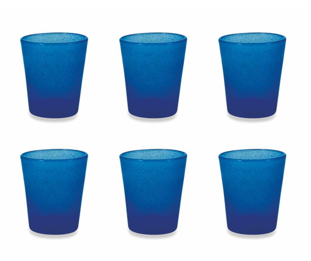 Set 6 pahare pentru apa Cancun Satin Blue 330 ml - Villa D'Este Home Tivoli, Albastru imagine