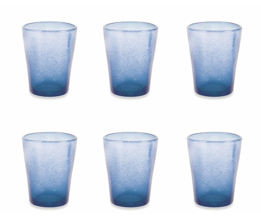 Set 6 pahare pentru apa Cancun Satin Indigo 330 ml imagine
