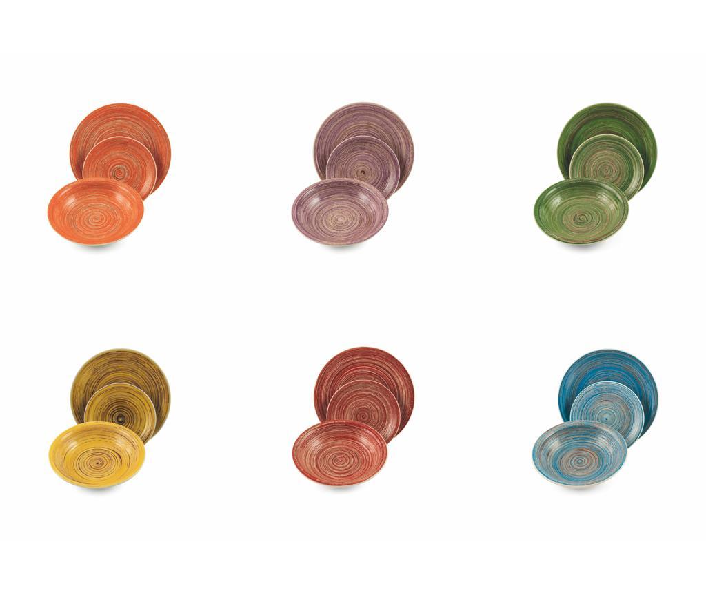 Set de masa 18 piese Terra - Villa D'Este Home Tivoli, Multicolor imagine