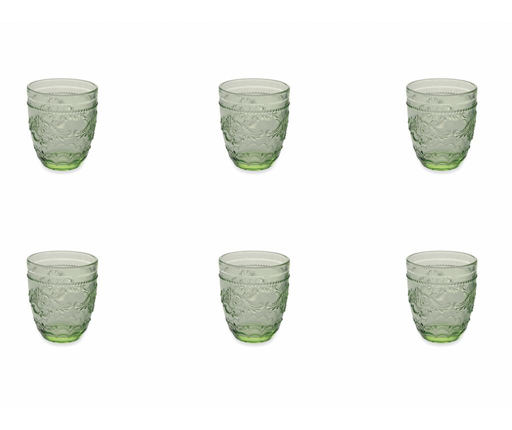 Set 6 pahare pentru apa Syrah Green 324 ml imagine