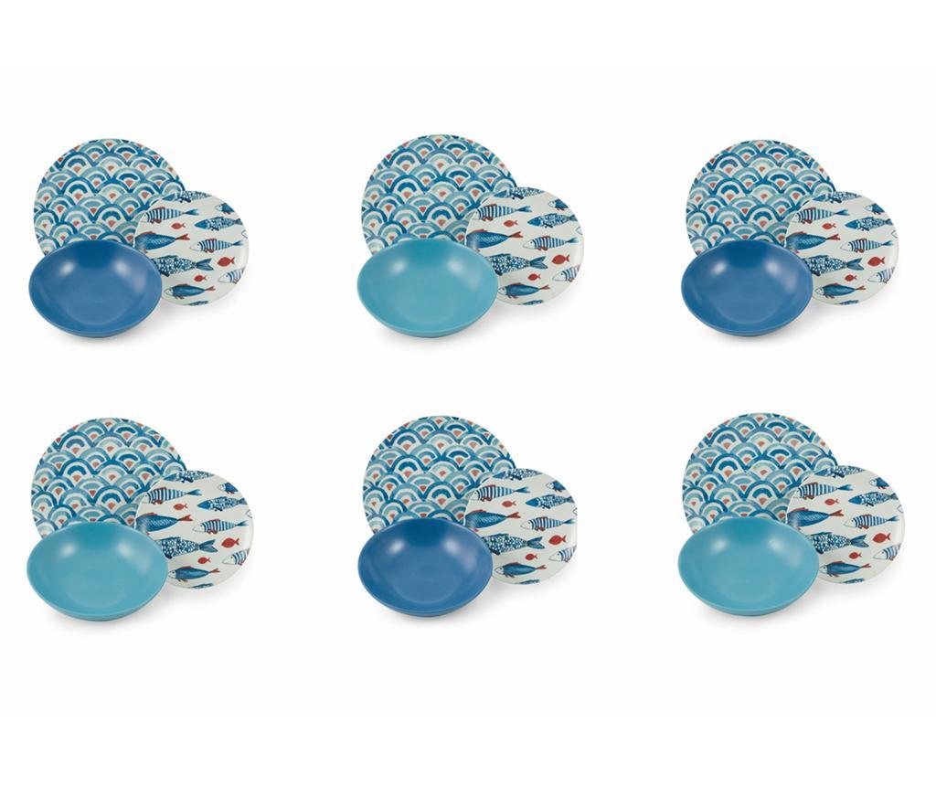 Set de masa 18 piese Schimi - Villa D'Este Home Tivoli, Albastru imagine