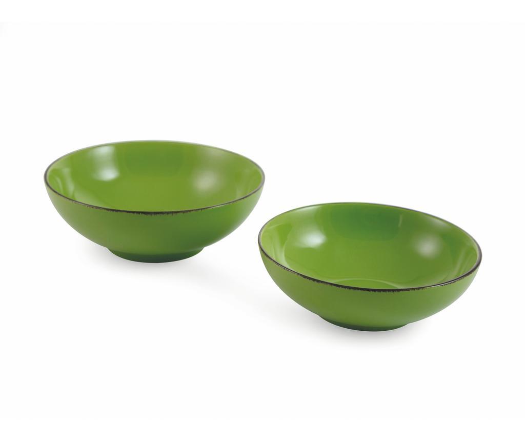 Set 2 boluri pentru salata Baita Green - Villa D'Este, Verde imagine