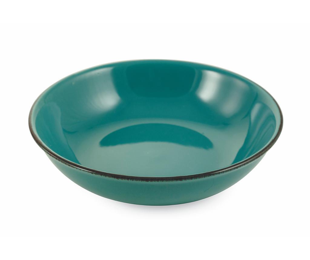 Bol pentru salata Baita Turquoise - Villa D'Este, Albastru imagine
