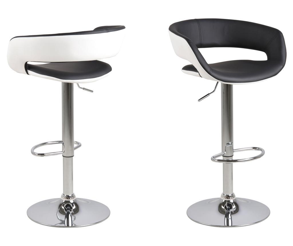 Set 2 scaune de bar Grace - actona, Alb,Negru imagine