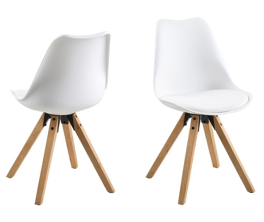 Set 2 scaune Dima White - actona, Alb