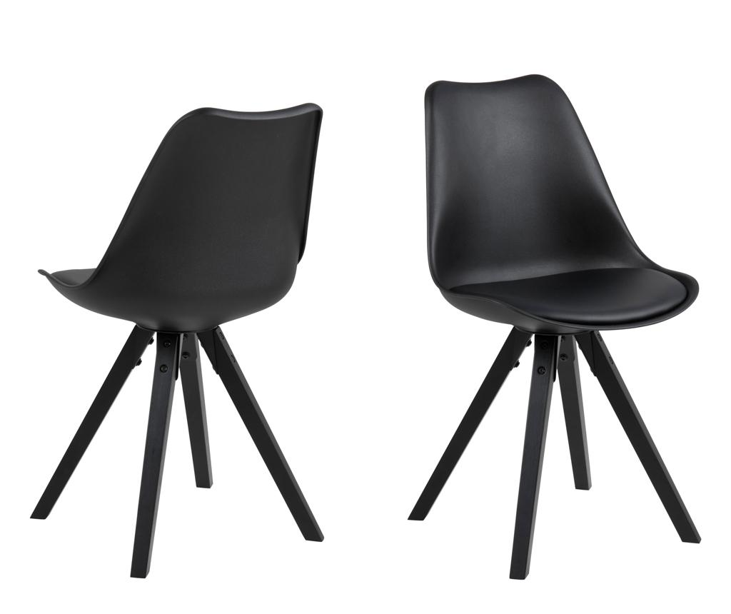 Set 2 scaune Dima All Black - actona