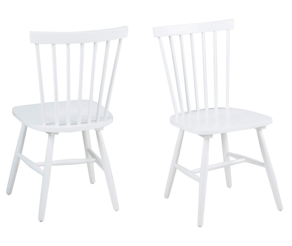 Set 2 scaune Riano White - actona, Alb imagine