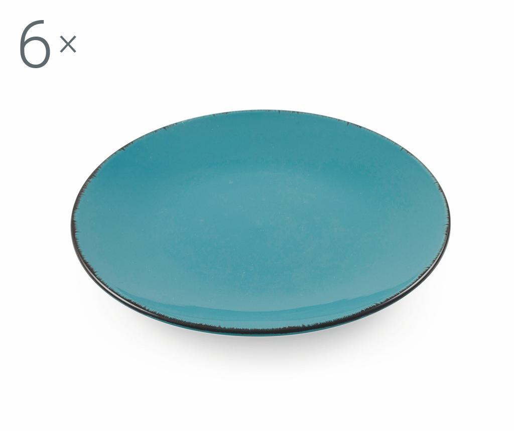 Set 6 farfurii pentru desert Baita Turquoise - Villa D'Este Home Tivoli, Albastru poza