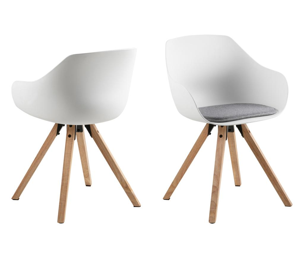 Set 2 scaune Tina - actona, Alb imagine