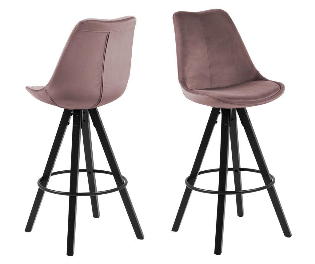 Set 2 scaune de bar Dima Vic Dusty Rose - actona, Roz imagine