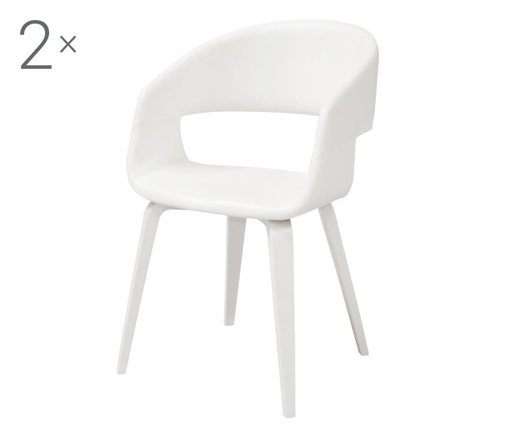 Set 2 scaune Nova Style White vivre.ro