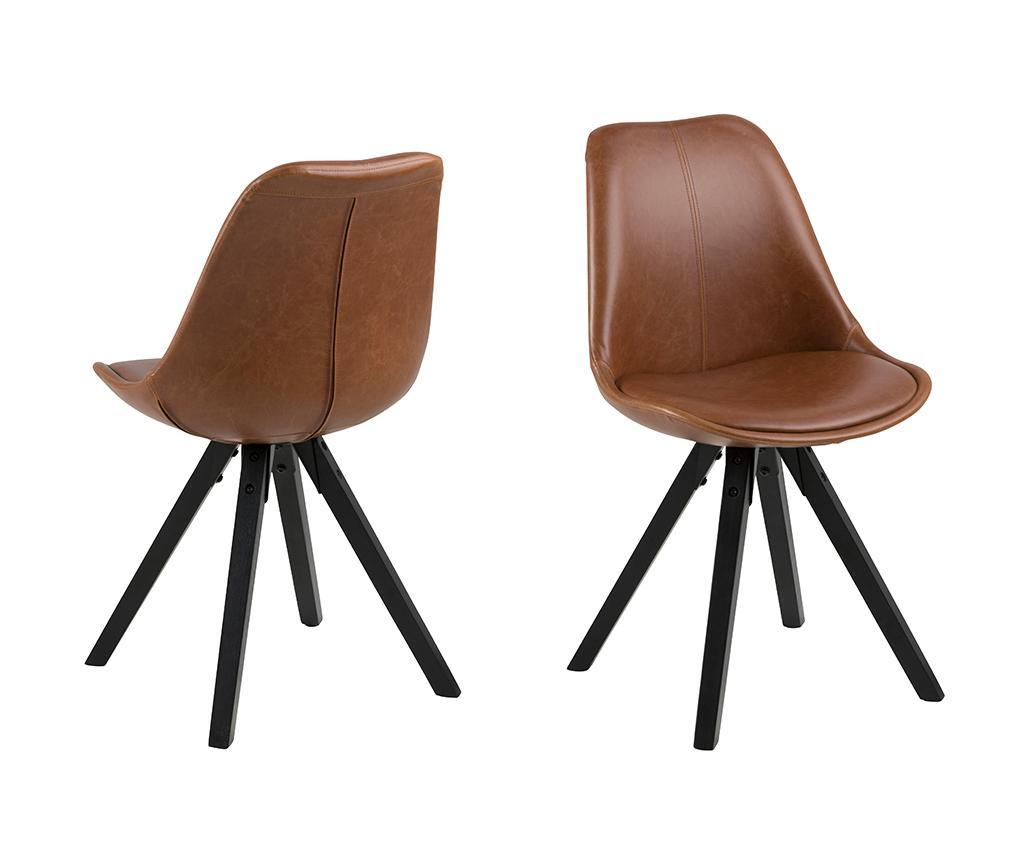 Set 2 scaune Dima Brandy - actona imagine