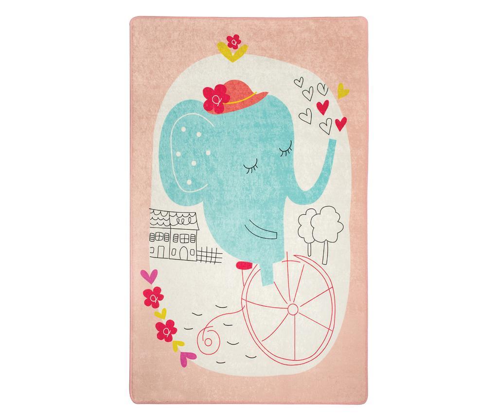 Covor Sleepy Elephant Love 140x190 cm - Chilai, Multicolor imagine
