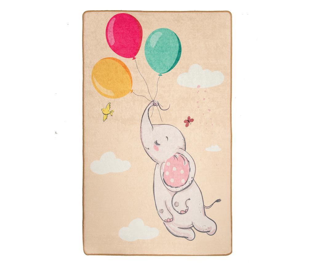 Covor Elephant Baloon Brown 140x190 cm - Chilai, Multicolor imagine