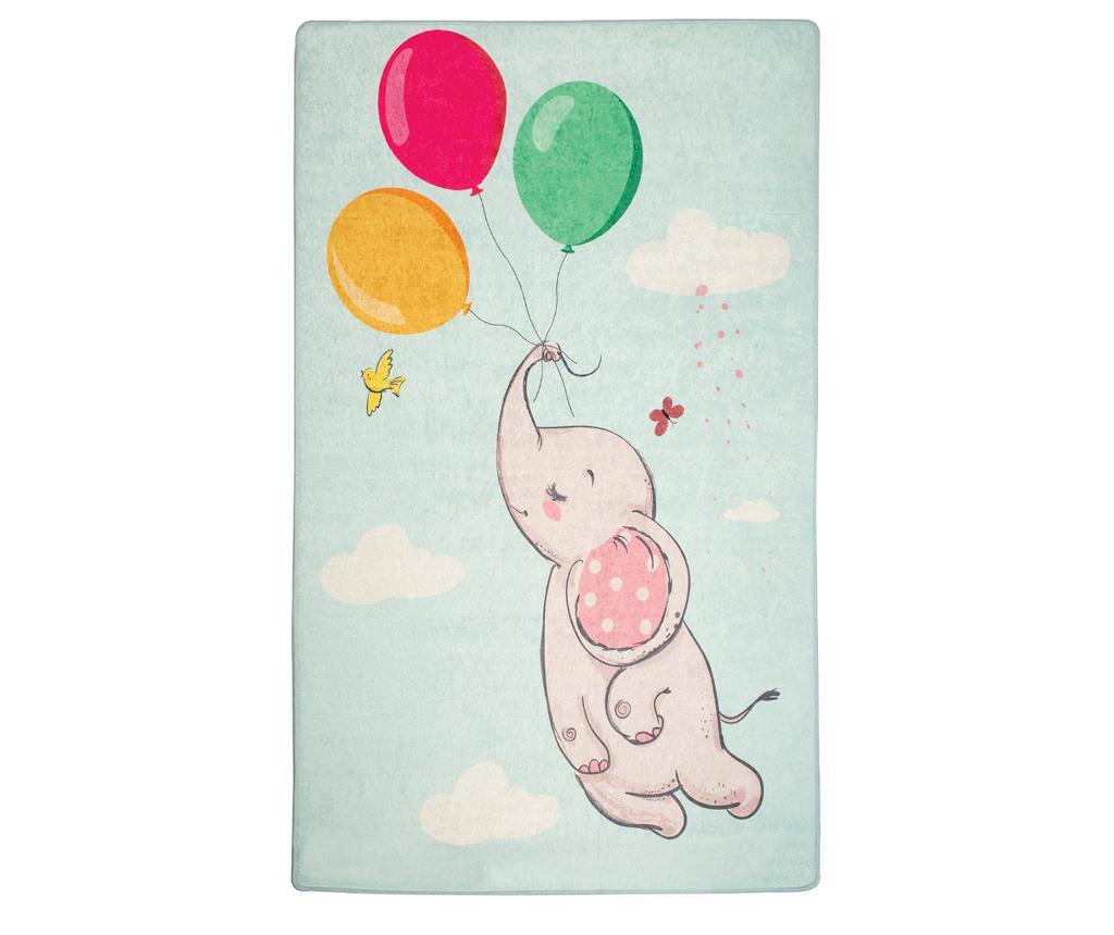 Covor Elephant Baloon Blue 140x190 cm - Chilai, Multicolor imagine