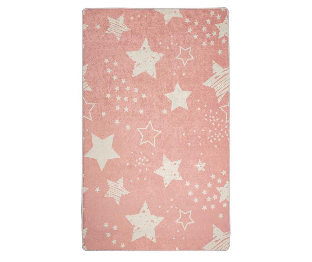 Covor Stars Pink 140x190 cm - Chilai, Roz imagine
