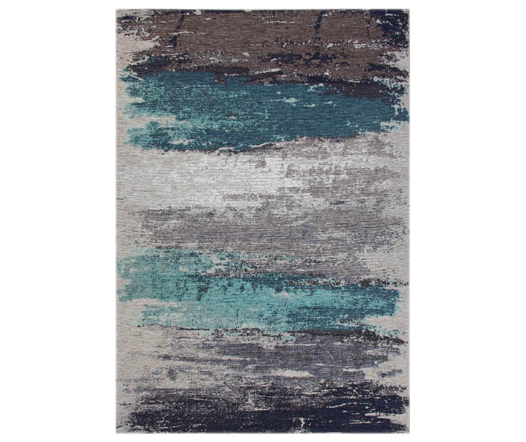 Covor Brushed Grey Aqua 80x150 cm - Eko Halı, Albastru,Gri & Argintiu vivre.ro