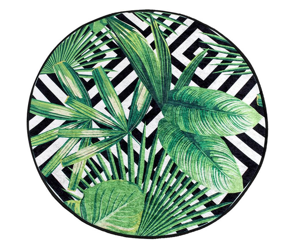 Covoras de baie Tropical Vibes 100 cm - Chilai Home, Verde vivre.ro