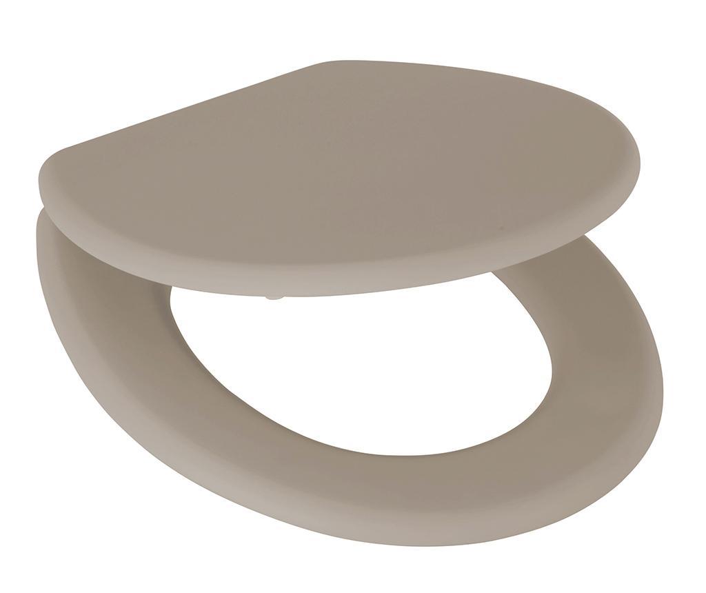 Capac pentru toaleta Lena Taupe - Axentia, Gri & Argintiu