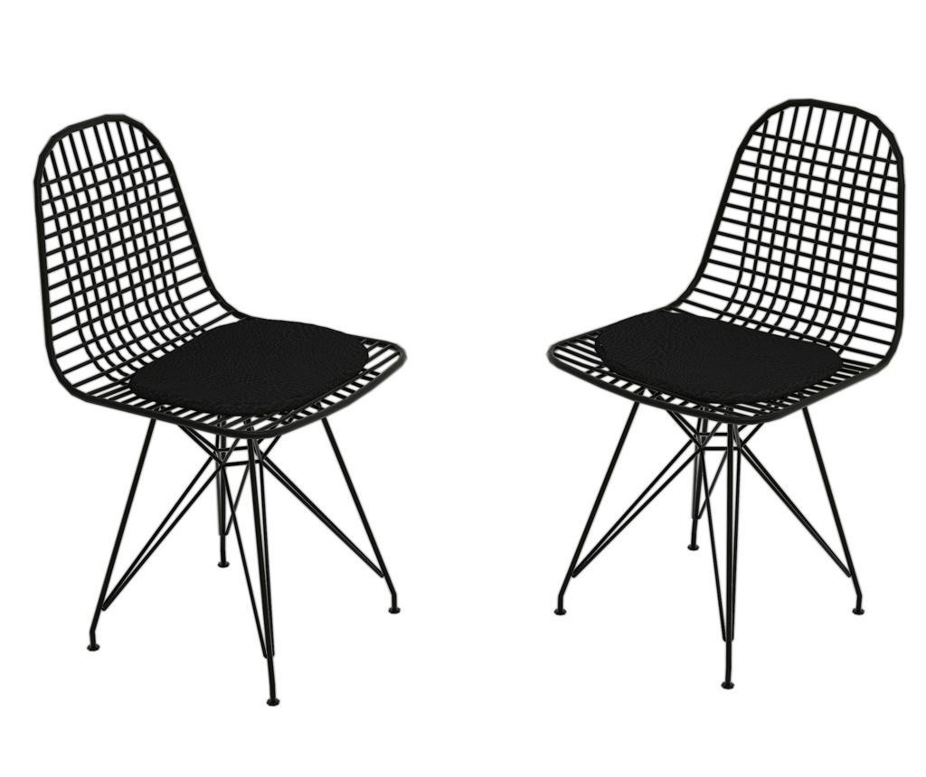 Set 2 scaune Kafes - Puqa Design, Negru