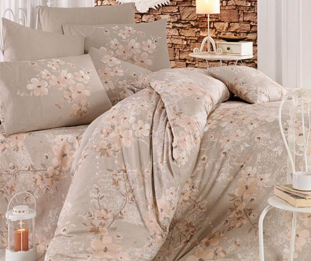 Lenjerie de pat Double Ranforce Elena Brown - Pearl Home, Multicolor imagine