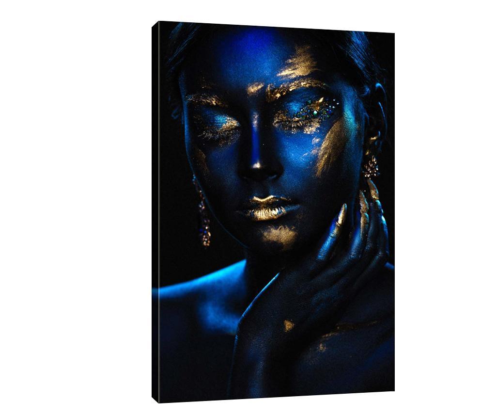Tablou Royal Blue 70x100 cm - TABLOCENTER, Albastru imagine